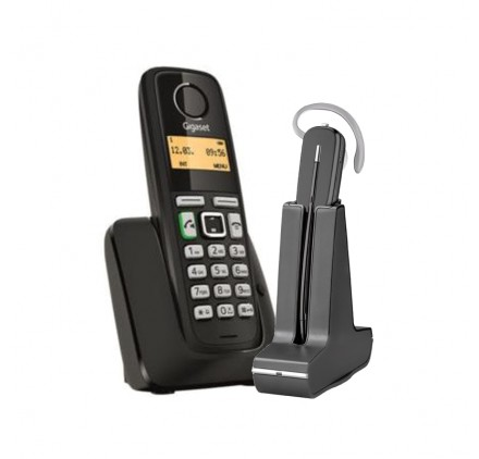 Telefono inalambrico A220 + Inalambrico Plantronics C565