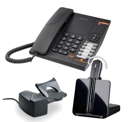 Telefono fijo Temporis 380 + inalambrico CS540 con descolgador HL10