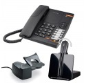 Pack Telefono fijo Alcatel Temporis 380 + inalambrico Plantronics CS540 con descolgador HL10