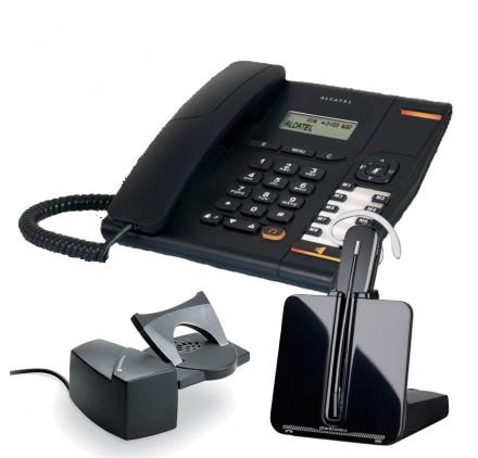 telefono fijo Temporis 580 + Inalambrico CS540 con descolgador HL10